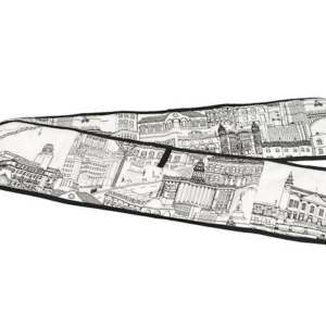 Cityscape Black and White Oven Glove pic