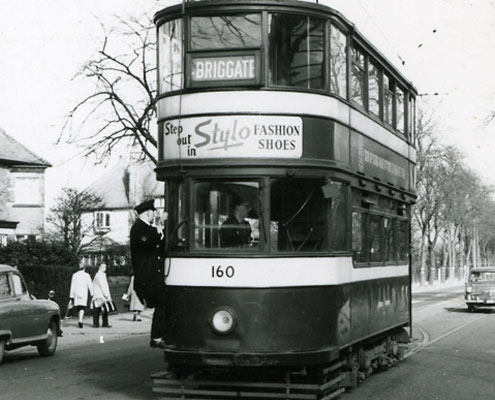A tram in Leeds in the 20th century
