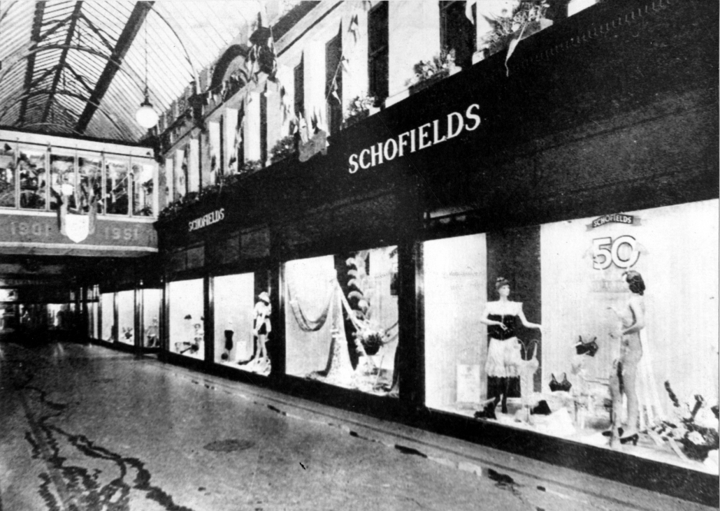 An interior shot of Schofields department store in Leeds