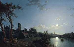 A painting of Kirkstall Abbey from 1850