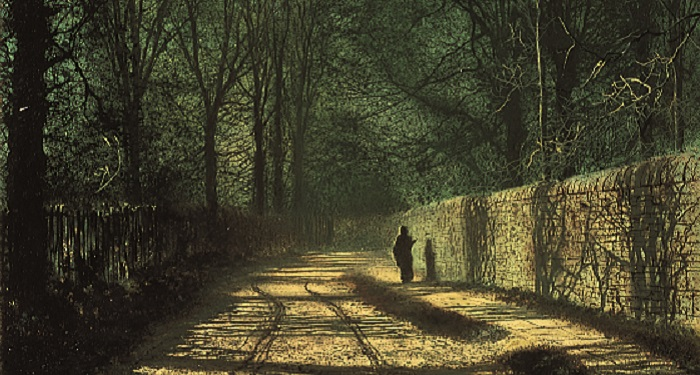 Tree Shadows on the Park Wall Roundhay by John Atkinson Grimshaw